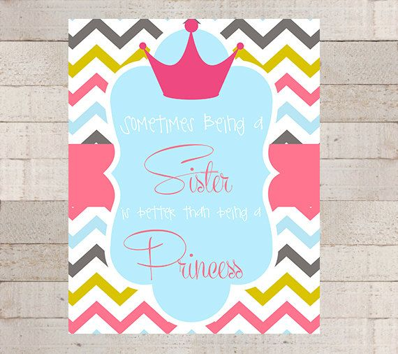 Being a PRINCESS Wall Art Modern Princess by myhappylifedesigns, $8.00