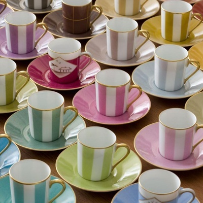 Café with the Madhatter anyone?  Colorful espresso mugs by Marie Dâage