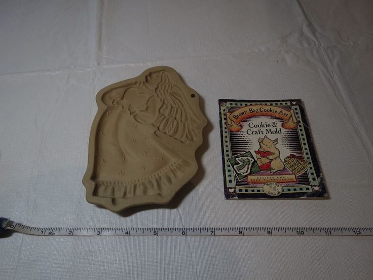 Brown Bag Cookie Art mold angel 1987 Hill Design Inc recipes craft large RARE #BrownbagcookieArt