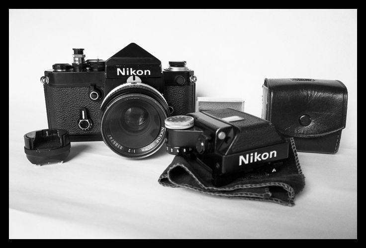 Nikon F2 with DE-1 finder, Nikkor-K 50mm f/2, DP-11 finder, iso flash mount | by Nordic Aperture
