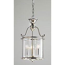 Indoor 3-light Antique Nickel Chandelier | Overstock.com Shopping - The Best Deals on Chandeliers & Pendants