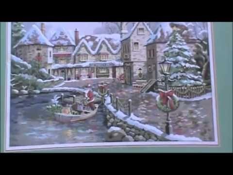 Muestrario de punto de cruz Paisaje navideño y Almuadones - YouTube