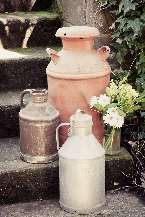 17 best images about repurposed milk cans on pinterest for Repurposed milk cans