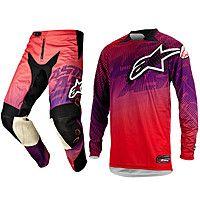 Кроссовая одежда Alpinestars Charger красная / фиолетовая 3761214 383 3721214 383