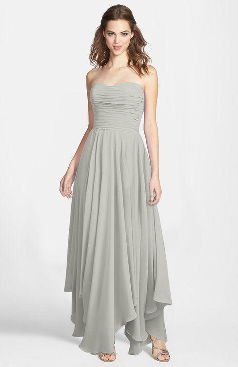 Gorgeous Princess Sweetheart Sleeveless Asymmetric Bridesmaid Dresses