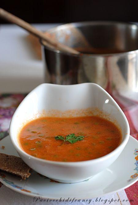 Paciocchi di Francy: Zuppa piccante di pomodoro e piselli