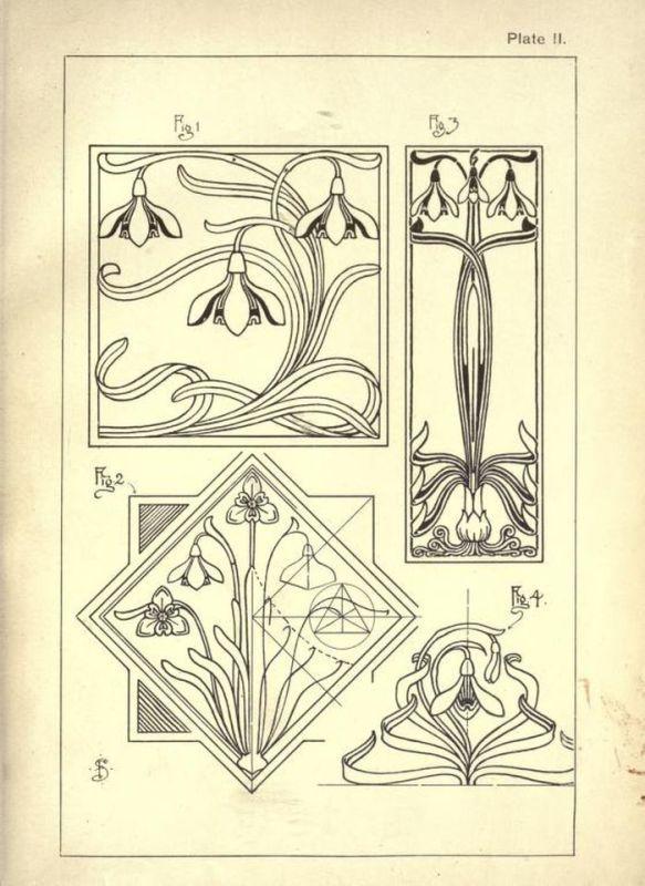 Vintage How To Draw Sketch Design Art Nouveau Artist Pencil Signs 50