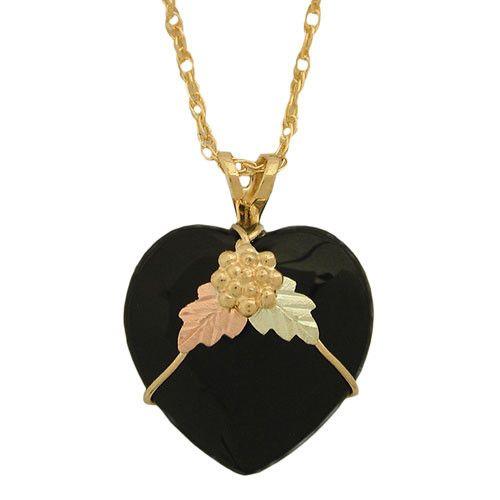 276 best black hills gold images on pinterest black hills gold black hills gold onyx heart necklace aloadofball Choice Image