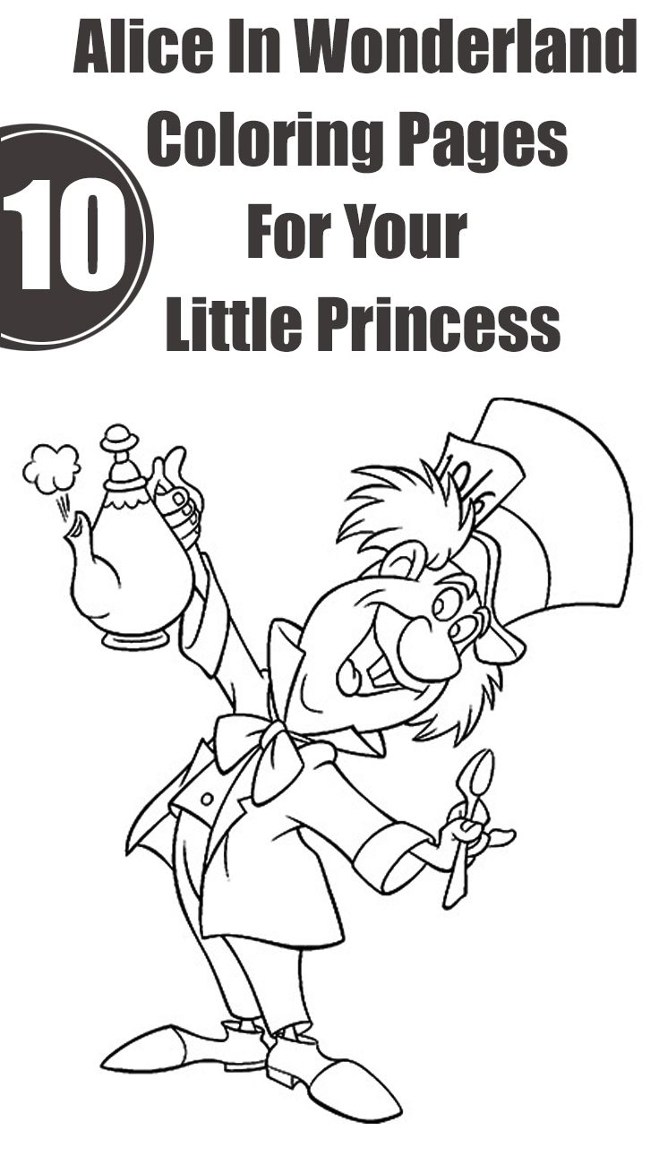 Little princess coloring pages - Top 10 Alice In Wonderland Coloring Pages For Your Little Princess