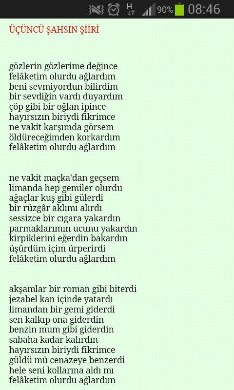 Üçüncü şahsın şiiri.. Şiir gibi şiir