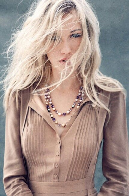 Bleach blond.