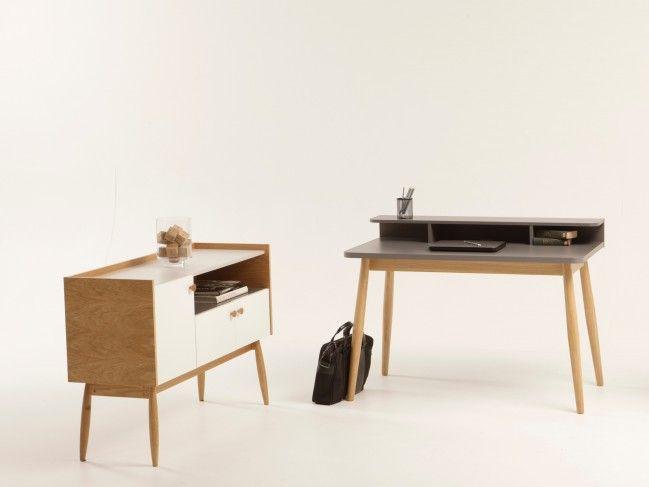 Farsta Scandinavian Home Office Desk   Console Desk