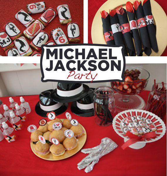Michael Jackson Party Printable KIT MJ Digital by worldwideparty