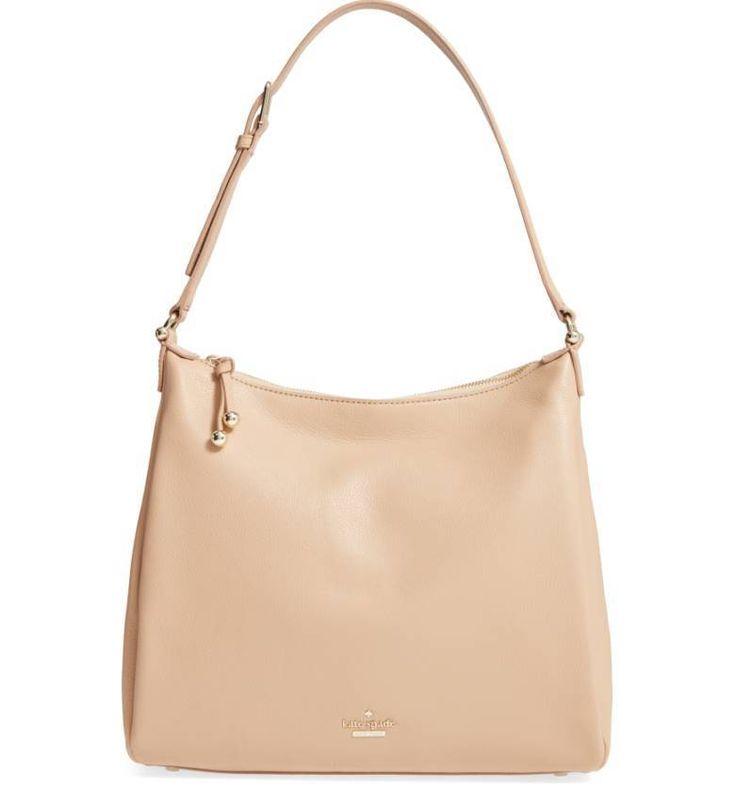 Nwt Kate Spade Lombard Street Pauley Tan Leather Slouchy Hobo Satchel Hand Bag
