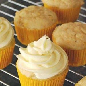 60 Calorie, Healthy Cupcakes -5 egg whites -pinch of salt -3tbsp honey -2tsp vanilla -1/4c non fat greek yogurt -1/2c whole wheat flour -1tsp baking soda  Frosting -1 banana -1c non fat cream cheese