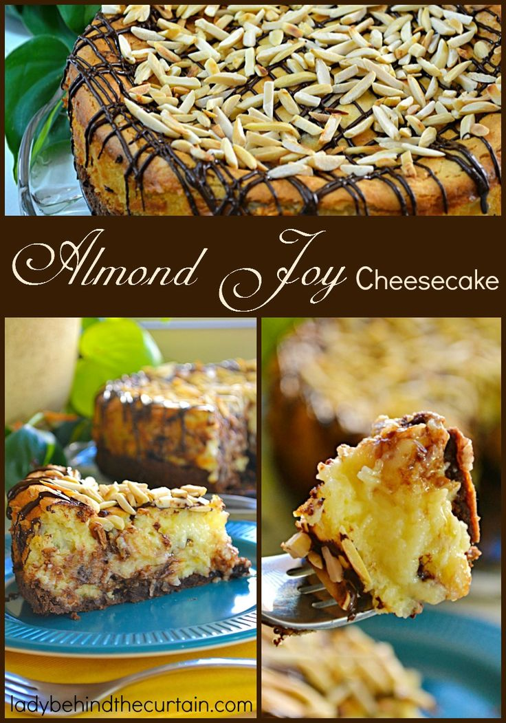 Just like your favorite candy bar this Almond joy Cheesecake is full of chocolate, almonds and coconut.