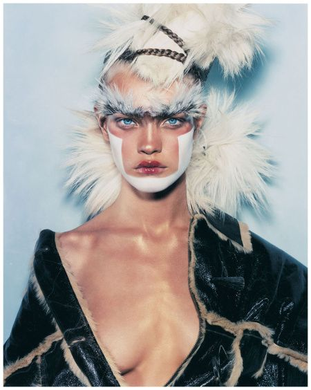 Natalia Vodianova wears John Galliano in 'Chic Savages' by Steven Klein for i-D Magazine, April 2002