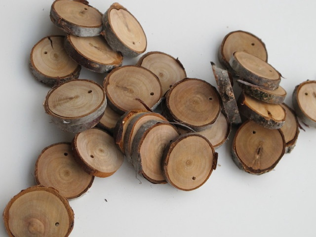 Wood coins