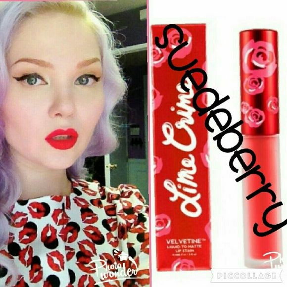 HP, BEST IN MAKEUPLime Crime Suedeberry Lime Crime Velvetines in Suedeberry Lime Crime  Makeup Lipstick