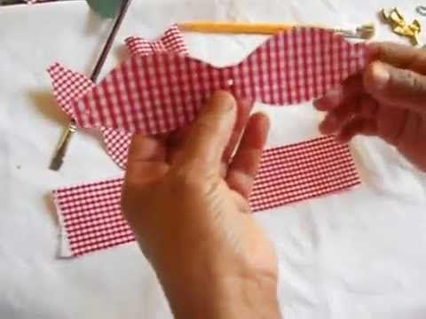 Laço duro com tecido duplo - YouTube