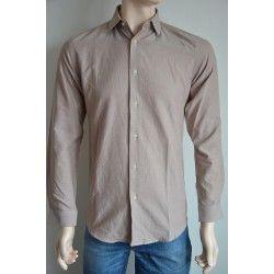 Next pánská košile, dlouhý rukáv béžová 36 cm
