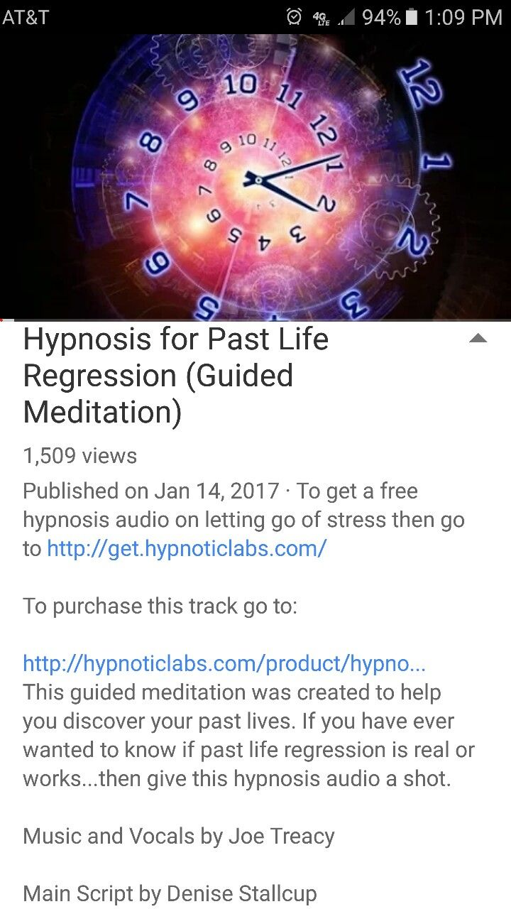 Hypnosis for Past Life Regression (Guided Meditation) by Joe Treacy on YouTube