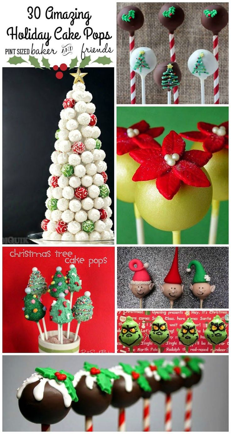 30 Christmas Cake Pops Collection! Get some great inspiration for you edible gift giving platters!