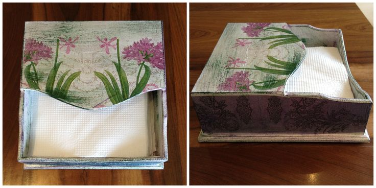 Paper napkin holder DIY