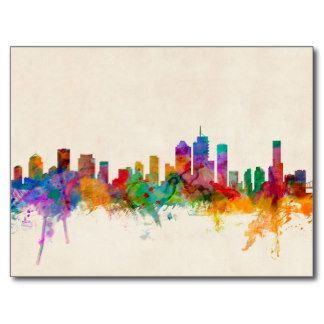 Brisbane Australia Skyline Cityscape Postcard