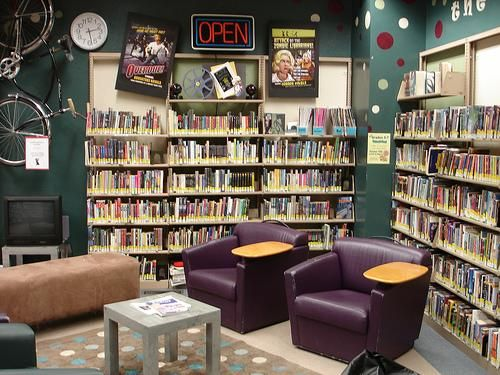 Love the decorating of the Whitman County Library in Colfax's teen space! It has such a lot of character!