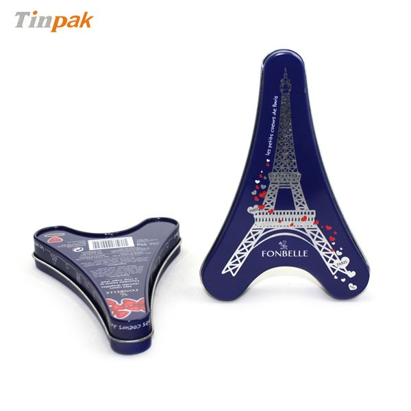 Briefing With Food grate tinplate, food grade internal lacquer, this Eiffel Tower tin is not only a catching focus for tourist consumers.