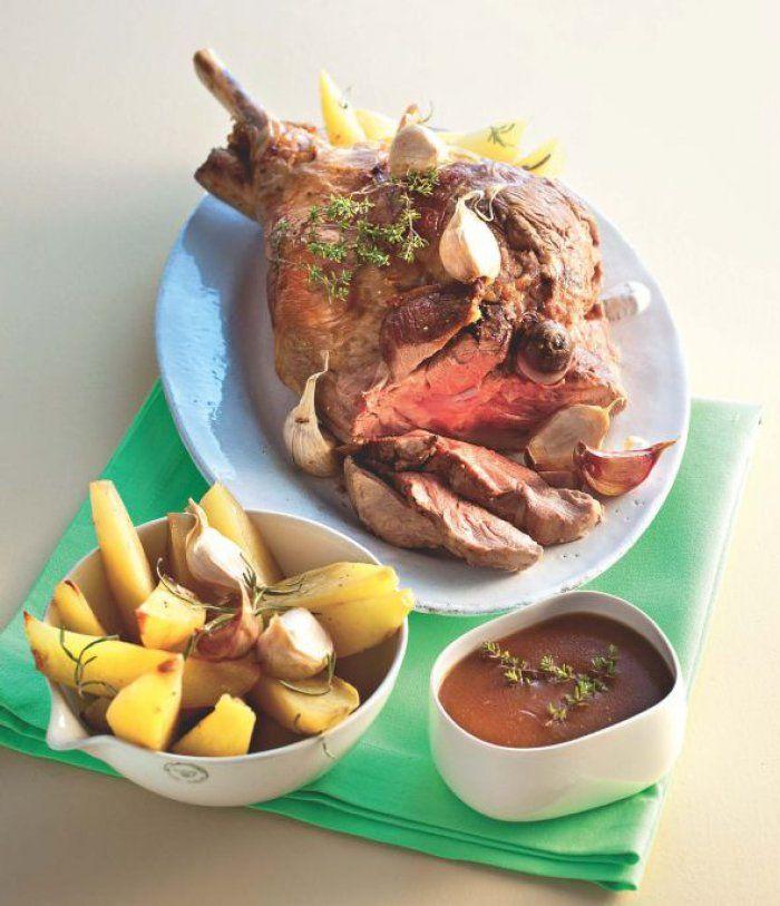 Gigot+d'agneau+rôti+aux+pommes+de+terre,+la+vraie+recette