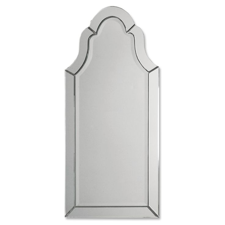 Open up your space visually with this frameless arched mirror. Beveled edges give this mirror timeless appeal, so it works well with both traditional and modern decor. Use it as a decoration or as a practical way to check your image before heading out.