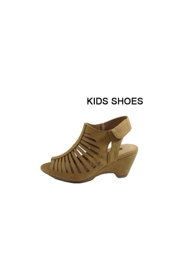 Girls Tan Wedge Sandal