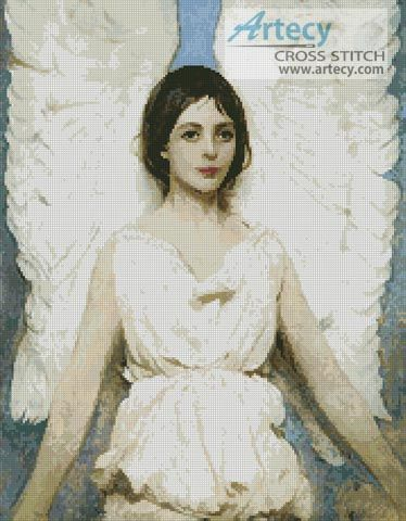 Angel Counted Cross Stitch Pattern http://www.artecyshop.com/index.php?main_page=product_info&cPath=31_36&products_id=1213