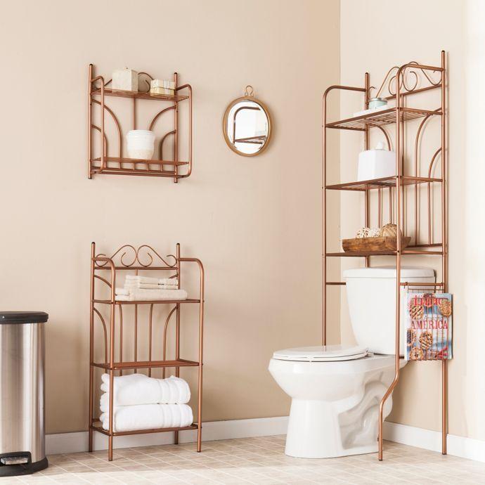 Southern Enterprises 3 Piece Scroll Bath Set In Warm Copper Bed