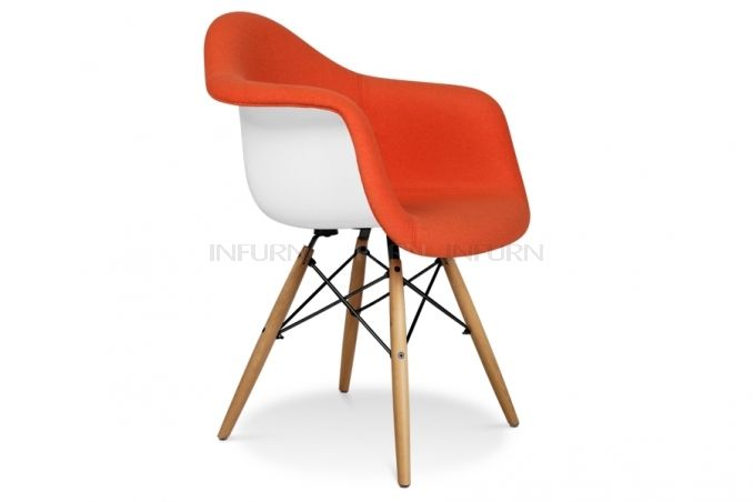 Daw armchair with upholstery inspired by charles e wow eames sword - Chaise daw charles eames ...