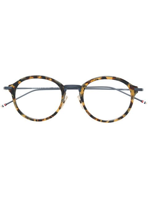 THOM BROWNE EYEWEAR tortoiseshell effect eye glasses. #thombrowneeyewear #