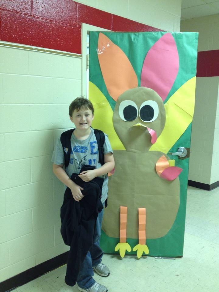 Turkey door decoration for Thanksgiving