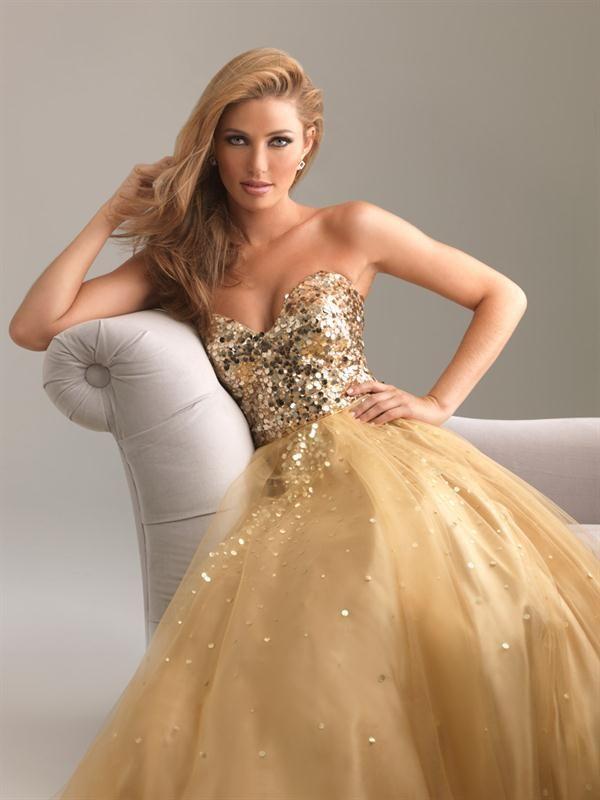 Vestido de 15 años - Color Dorado : Vestidos para tu Fiesta