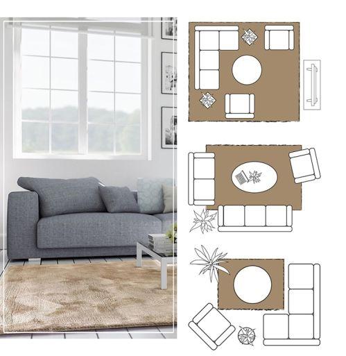 Teppich Größe für Wohnzimmer bestimmen