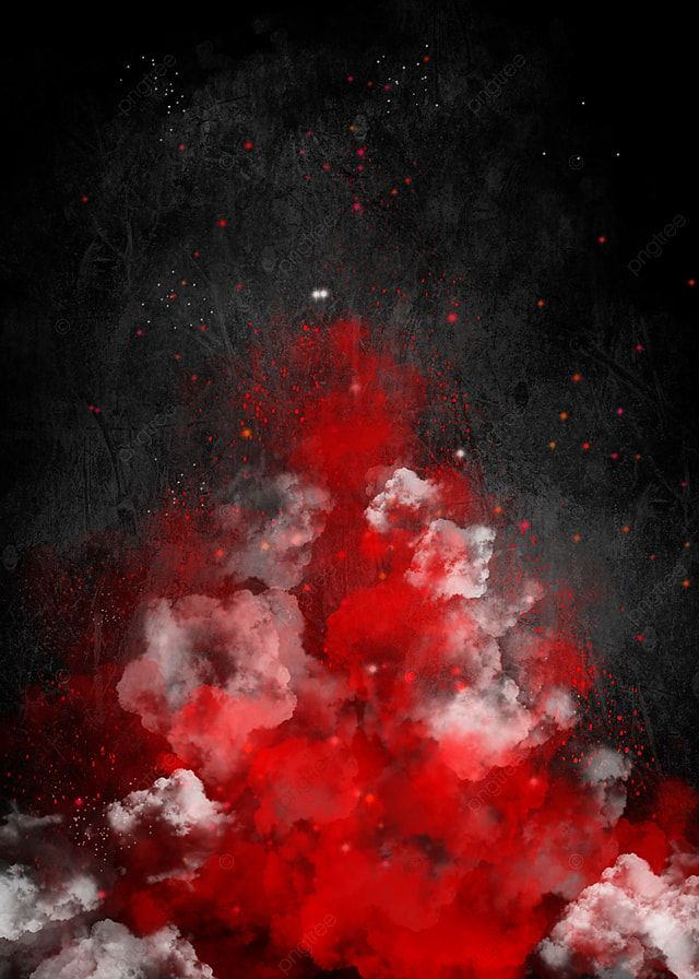 Red White Holi Paint Color Powder Explosion Isolated White Wide Panorama Background White Background Wallpaper Color Powder Red Background