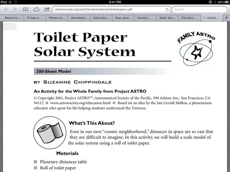 toilet paper solar system activity - photo #3