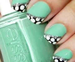 polka-dot nails: Mint Green, Nails Art, Cute Nails, Nails Design, Mint Nails, Polkadot, Polka Dots Nails, Nails Ideas, Green Nails