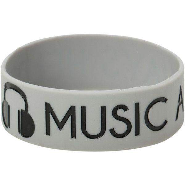 Best Bracelet 2017/ 2018 : Music Always Helps Rubber Bracelet | Hot Topic