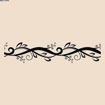 Newest Vine Bracelet Tattoo Design