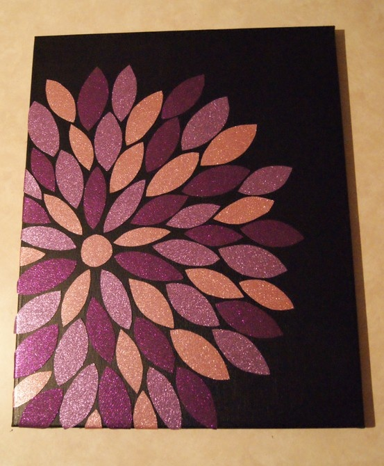 Wall flower.. Fabric - canvas - Modge Podge