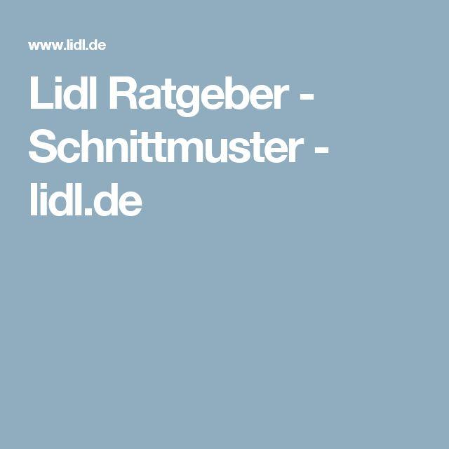 Lidl Ratgeber - Schnittmuster - lidl.de