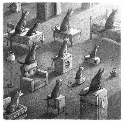 Shaun Tan - Tales From Outer Suburbia - it's an anthology of fifteen very short illustrated stories. Each one is about a strange situation or event that occurs in an otherwise familiar suburban world; The subject of each story is how ordinary people react to these incidents, and how their significance is discovered, ignored or simply misunderstood.