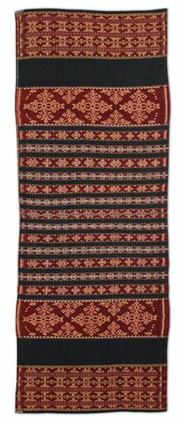 Ikat Sarung from Savu, Indonesia. Cotton, natural dyes (2009) - Threads of Life